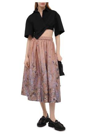 Женская юбка из льна и шелка ZIMMERMANN розового цвета, арт. 1063SLMI | Фото 2