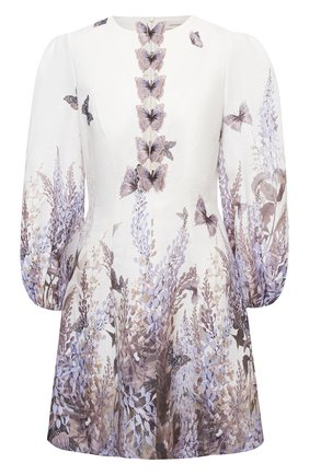 Женское льняное платье ZIMMERMANN сиреневого цвета, арт. 1107DLMI | Фото 1