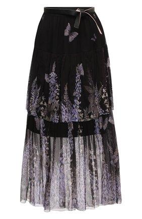Женская шелковая юбка ZIMMERMANN черного цвета, арт. 1128SB0T | Фото 1