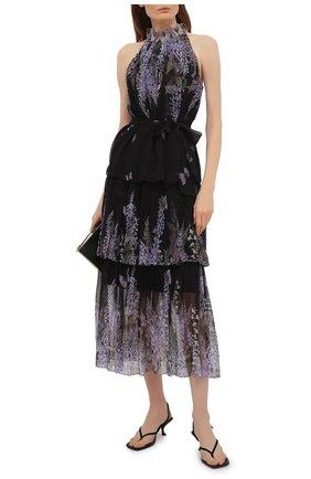 Женская шелковая юбка ZIMMERMANN черного цвета, арт. 1128SB0T | Фото 2