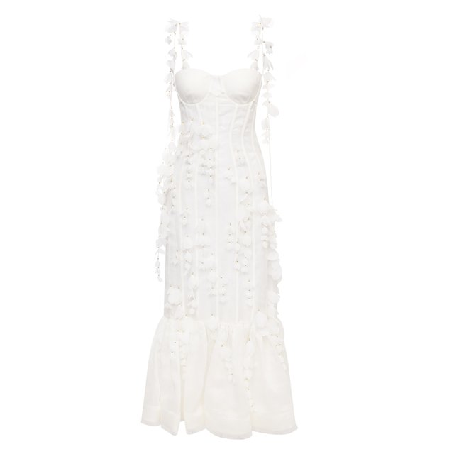 Платье из льна и шелка Zimmermann