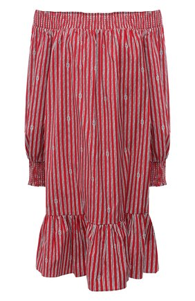 Женское хлопковое платье MICHAEL MICHAEL KORS красного цвета, арт. MS180491B4 | Фото 1