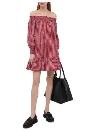 Женское хлопковое платье MICHAEL MICHAEL KORS красного цвета, арт. MS180491B4 | Фото 2