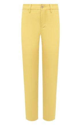 Женские хлопковые брюки POLO RALPH LAUREN желтого цвета, арт. 211800738 | Фото 1