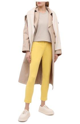 Женские хлопковые брюки POLO RALPH LAUREN желтого цвета, арт. 211800738 | Фото 2