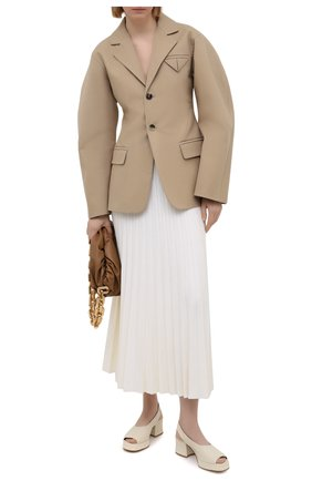 Женская шерстяная юбка GABRIELA HEARST белого цвета, арт. 221915 A002 | Фото 2