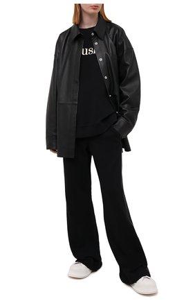 Женский хлопковый свитшот NANUSHKA черного цвета, арт. REMY_BLACK_0RGANIC FLEECE   Фото 2