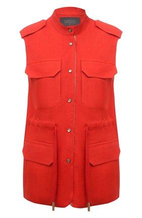 Женский льняной жилет LORENA ANTONIAZZI красного цвета, арт. E2103GI006/3347 | Фото 1
