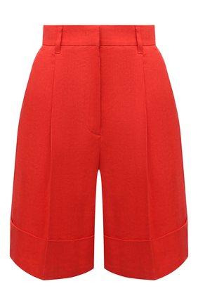 Женские льняные шорты LORENA ANTONIAZZI красного цвета, арт. E2103PA113/3347 | Фото 1
