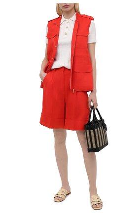 Женские льняные шорты LORENA ANTONIAZZI красного цвета, арт. E2103PA113/3347 | Фото 2