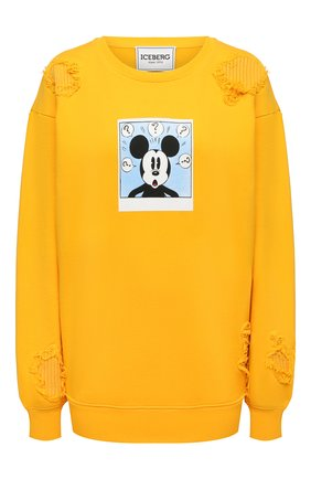 Женский хлопковый свитшот ICEBERG желтого цвета, арт. 21E I2P0/E021/6300 | Фото 1