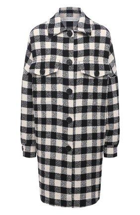 Женская хлопковая куртка PALM ANGELS черно-белого цвета, арт. PWEA036S21FAB0021001   Фото 1