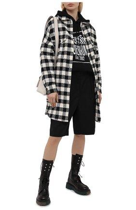 Женская хлопковая куртка PALM ANGELS черно-белого цвета, арт. PWEA036S21FAB0021001 | Фото 2