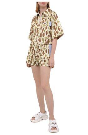 Женские шорты PALM ANGELS разноцветного цвета, арт. PWCB018S21FAB0036101   Фото 2