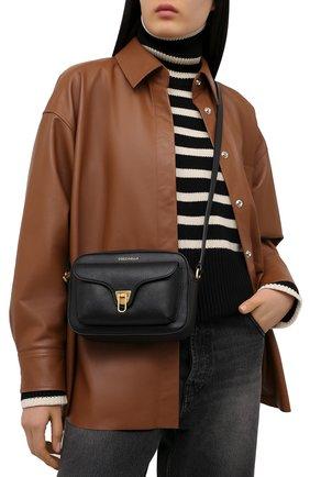Женская сумка beat soft COCCINELLE черного цвета, арт. E1 HF6 15 02 01   Фото 2