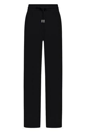 Женские хлопковые брюки DRIES VAN NOTEN черного цвета, арт. 211-11164-2629   Фото 1 (Длина (брюки, джинсы): Стандартные; Материал внешний: Хлопок; Женское Кросс-КТ: Брюки-одежда; Силуэт Ж (брюки и джинсы): Широкие; Стили: Спорт-шик)