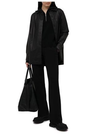 Женские хлопковые брюки DRIES VAN NOTEN черного цвета, арт. 211-11164-2629 | Фото 2