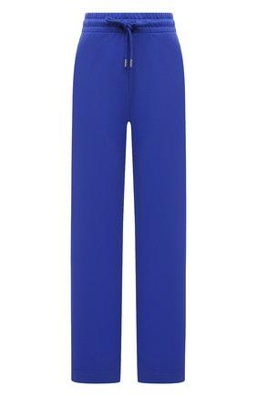 Женские хлопковые брюки DRIES VAN NOTEN синего цвета, арт. 211-11164-2629 | Фото 1