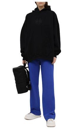 Женские хлопковые брюки DRIES VAN NOTEN синего цвета, арт. 211-11164-2629 | Фото 2