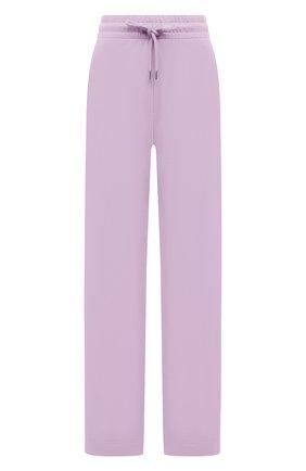Женские хлопковые брюки DRIES VAN NOTEN сиреневого цвета, арт. 211-11164-2629 | Фото 1