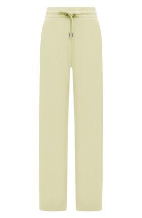 Женские хлопковые брюки DRIES VAN NOTEN желтого цвета, арт. 211-11164-2629 | Фото 1 (Длина (брюки, джинсы): Стандартные; Материал внешний: Хлопок; Женское Кросс-КТ: Брюки-одежда; Стили: Спорт-шик; Силуэт Ж (брюки и джинсы): Широкие)
