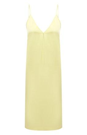 Женское платье из вискозы DRIES VAN NOTEN желтого цвета, арт. 211-11052-2146   Фото 1