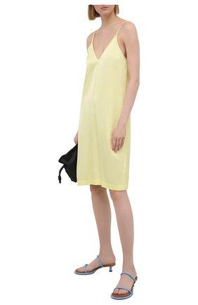 Женское платье из вискозы DRIES VAN NOTEN желтого цвета, арт. 211-11052-2146   Фото 2