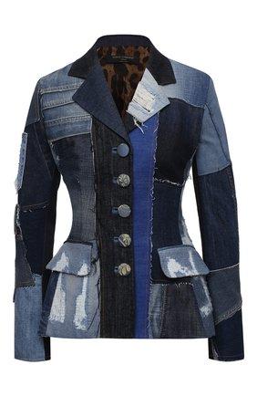 Женский джинсовый жакет DOLCE & GABBANA синего цвета, арт. F26BRD/GDY73 | Фото 1