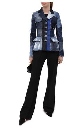 Женский джинсовый жакет DOLCE & GABBANA синего цвета, арт. F26BRD/GDY73 | Фото 2