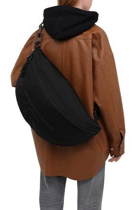 Женская поясная сумка ALEXANDER WANG черного цвета, арт. 20C220F110 | Фото 2