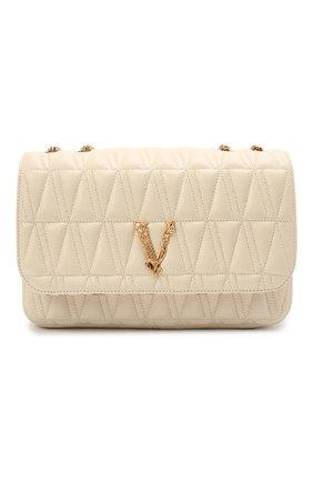 Женская сумка virtus medium VERSACE бежевого цвета, арт. DBFH822/D2NTRT | Фото 1