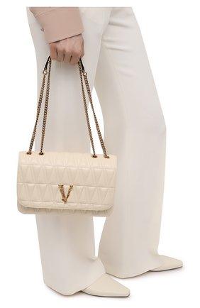 Женская сумка virtus medium VERSACE бежевого цвета, арт. DBFH822/D2NTRT   Фото 2