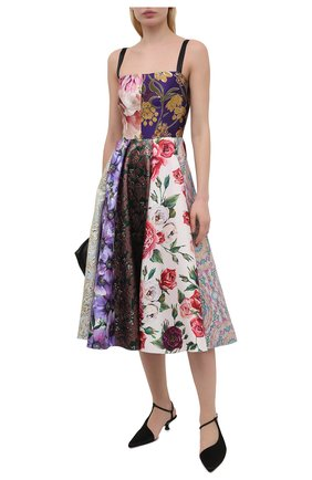 Женское шелковое платье DOLCE & GABBANA разноцветного цвета, арт. F6N0ET/GDY80 | Фото 2