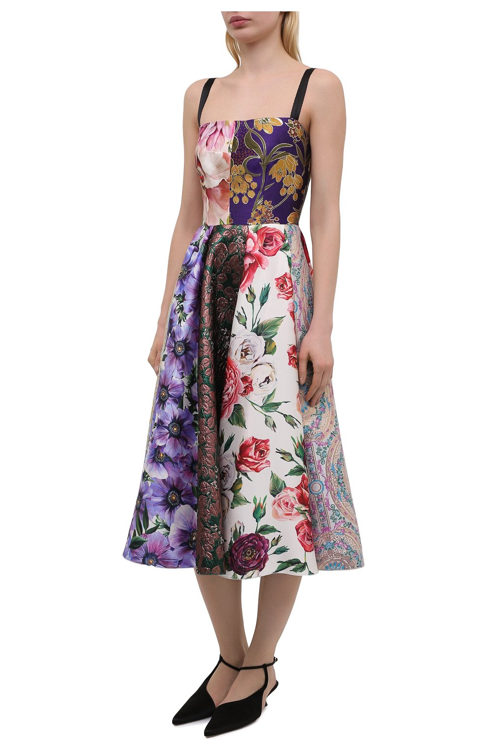 Женское шелковое платье DOLCE & GABBANA разноцветного цвета, арт. F6N0ET/GDY80 | Фото 3