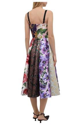 Женское шелковое платье DOLCE & GABBANA разноцветного цвета, арт. F6N0ET/GDY80 | Фото 4