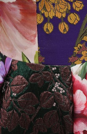 Женское шелковое платье DOLCE & GABBANA разноцветного цвета, арт. F6N0ET/GDY80 | Фото 5