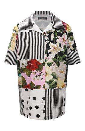 Женская хлопковая рубашка DOLCE & GABBANA разноцветного цвета, арт. F5N29T/GDX82 | Фото 1