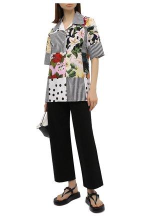 Женская хлопковая рубашка DOLCE & GABBANA разноцветного цвета, арт. F5N29T/GDX82 | Фото 2