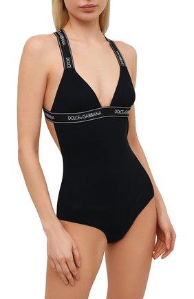 Женский слитный купальник DOLCE & GABBANA черного цвета, арт. 09A09J/FUGA2   Фото 2