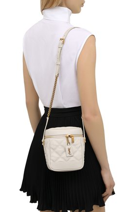 Женская сумка becky mini SAINT LAURENT белого цвета, арт. 649779/DME27   Фото 2