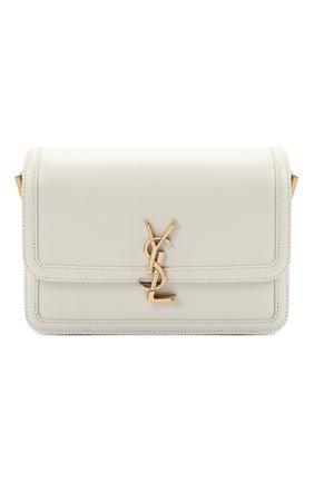 Женская сумка solferino SAINT LAURENT белого цвета, арт. 634305/0SX0W | Фото 1 (Сумки-технические: Сумки через плечо; Материал: Натуральная кожа; Размер: small)