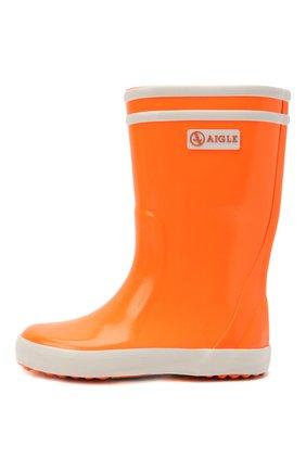 Детские резиновые сапоги AIGLE оранжевого цвета, арт. S00732/L0LLY P0P NE0N | Фото 2