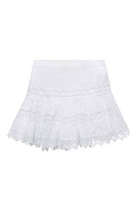 Детская хлопковая юбка CHARO RUIZ IBIZA белого цвета, арт. 9741/4-8 | Фото 1