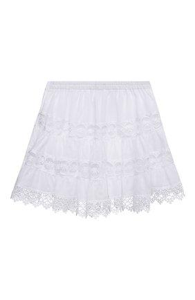 Детская хлопковая юбка CHARO RUIZ IBIZA белого цвета, арт. 9741/4-8 | Фото 2