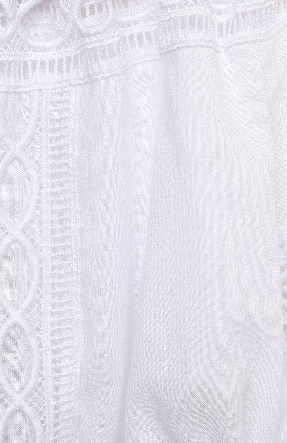 Детский хлопковый топ CHARO RUIZ IBIZA белого цвета, арт. 9711/4-8   Фото 3 (Рукава: Длинные; Девочки Кросс-КТ: топ-одежда; Материал внешний: Хлопок; Материал подклада: Хлопок; Ростовка одежда: 4 года   104 см, 6 лет   116 см, 8 лет   128 см)