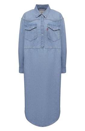 Женское джинсовое платье ganni x levi's GANNI голубого цвета, арт. F6093 | Фото 1