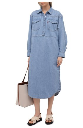 Женское джинсовое платье ganni x levi's GANNI голубого цвета, арт. F6093 | Фото 2