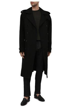 Мужские кожаные лоферы swann SAINT LAURENT черного цвета, арт. 649028/20200 | Фото 2