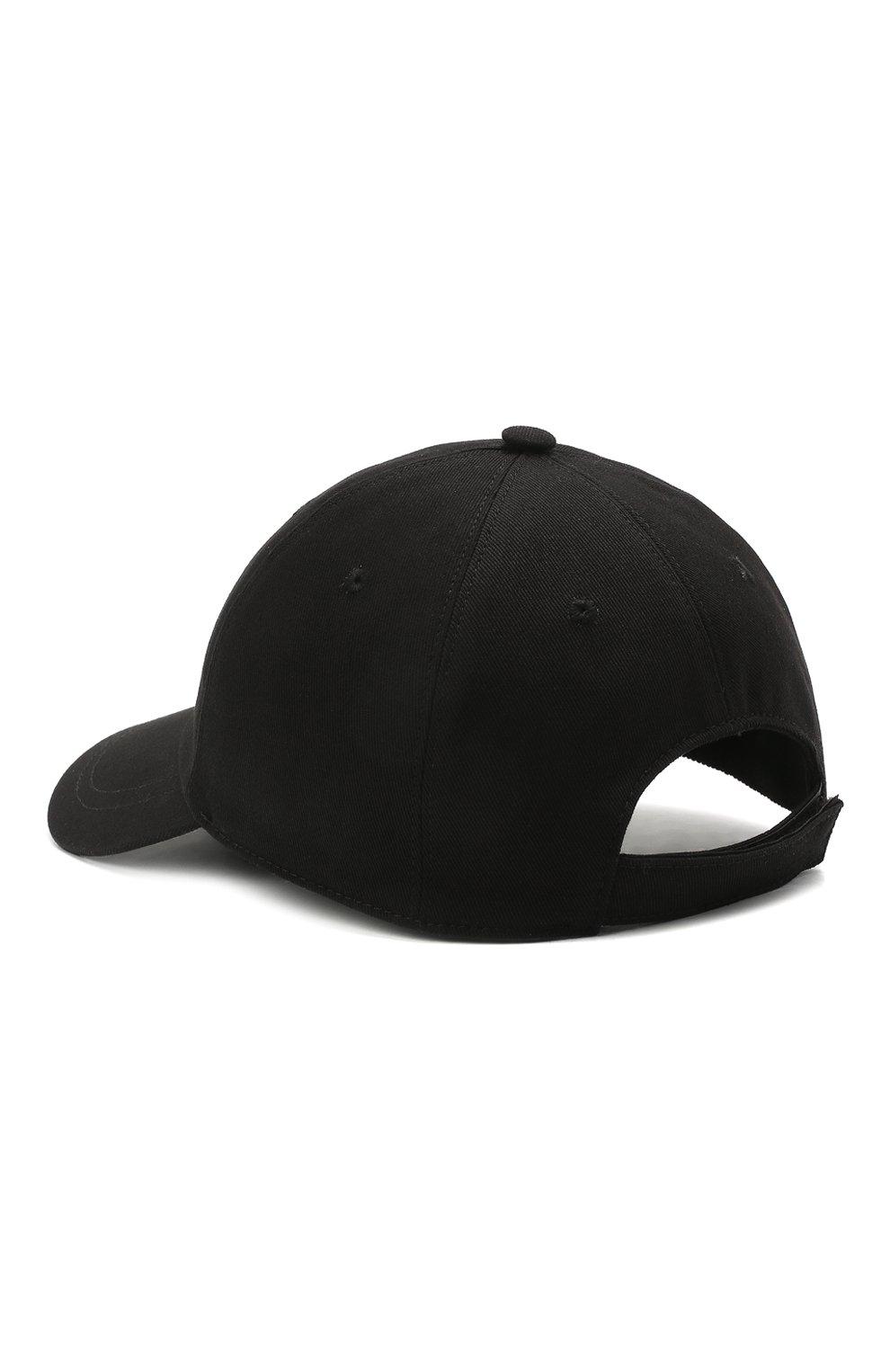 Мужской хлопковая бейсболка VERSACE черного цвета, арт. ICAP004/1F01262 | Фото 2