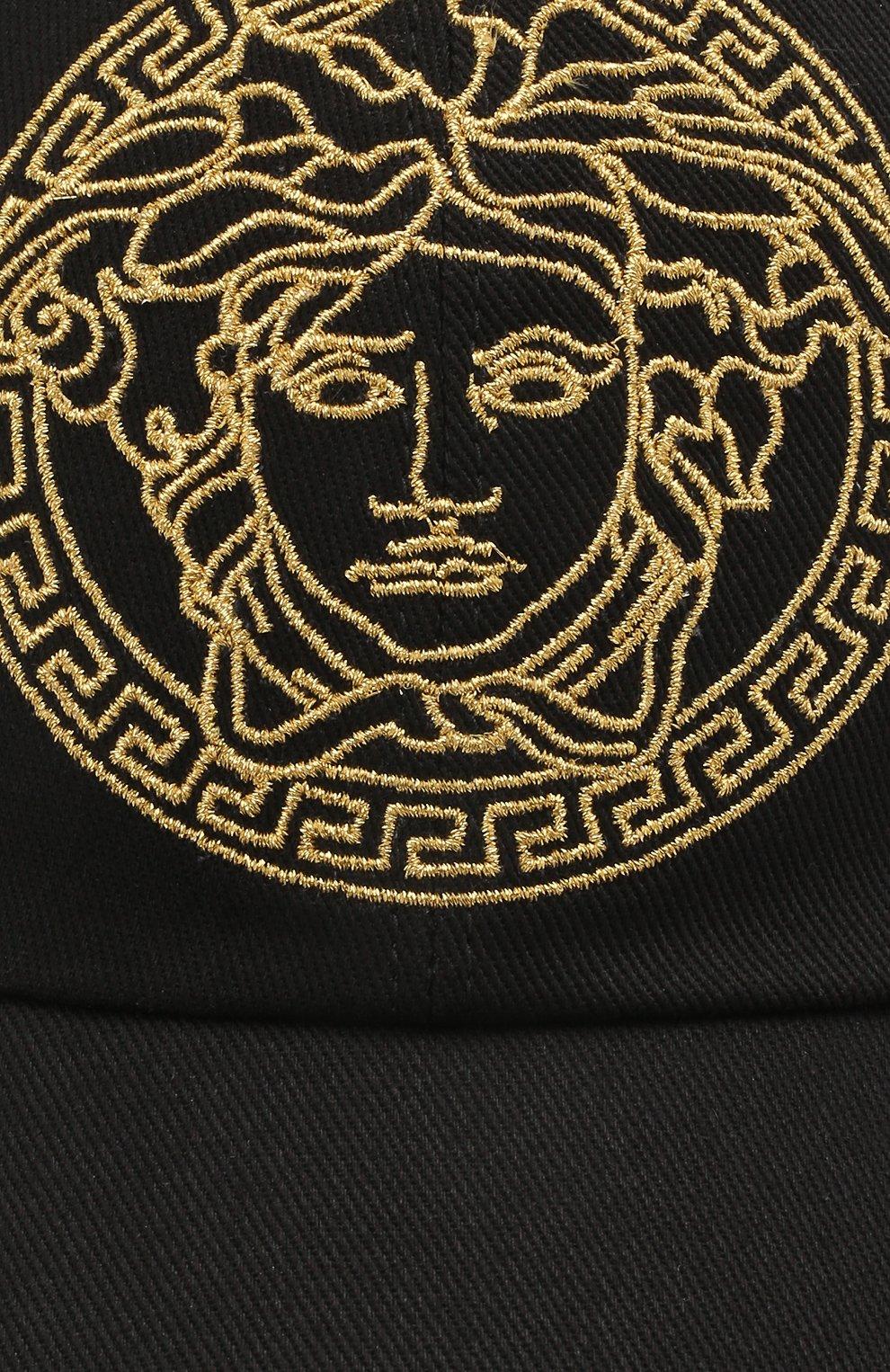 Мужской хлопковая бейсболка VERSACE черного цвета, арт. ICAP004/1F01262 | Фото 3